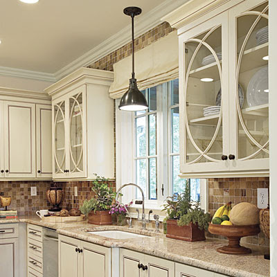 Love The Detail On These Elegant, Glass Kitchen Cabinets All Of The