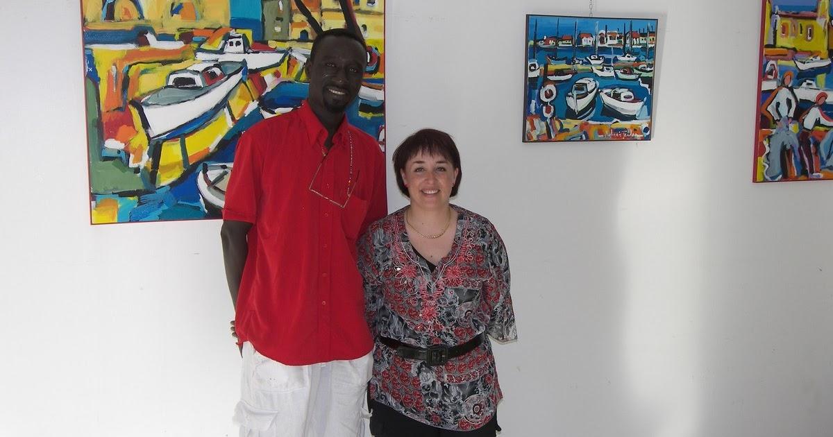 ouzin artiste peintre a montpellier art moderne art africain deco ouzin live painting. Black Bedroom Furniture Sets. Home Design Ideas