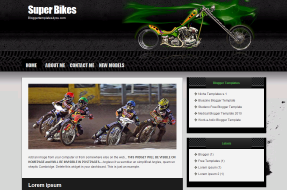 Super Bikes Blogger Theme