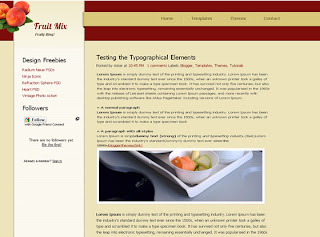 Fruit Mix Blogger Template