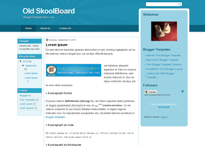Old SkoolBoard Blogger Template