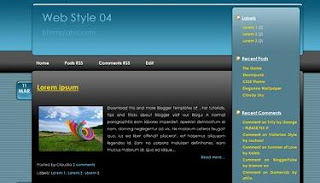 Blogger Template Web Style 04