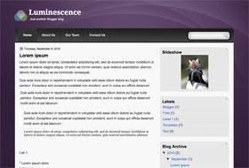Luminescence Blogger Template