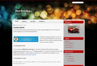 Blog Layout Perfetika Blogger Templates