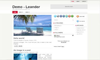 Blogger Templates Leander Blog Layouts