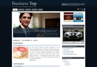 Blogger Templates free Business top