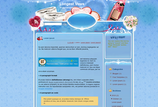 Longest Vows Blogger Template