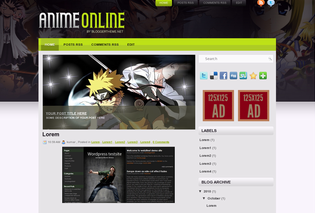 Free Blogger Templates Anime Online