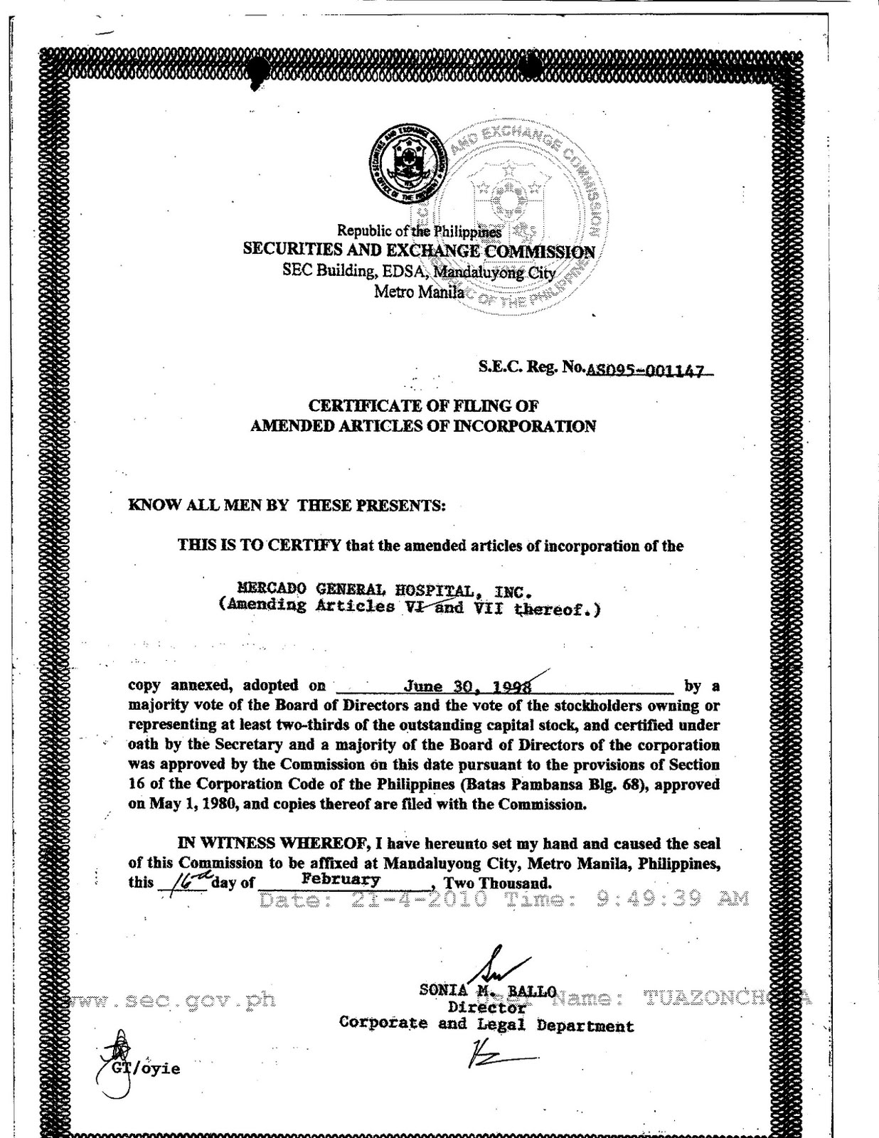 Certificate Of Title Mv 4 Bing Images