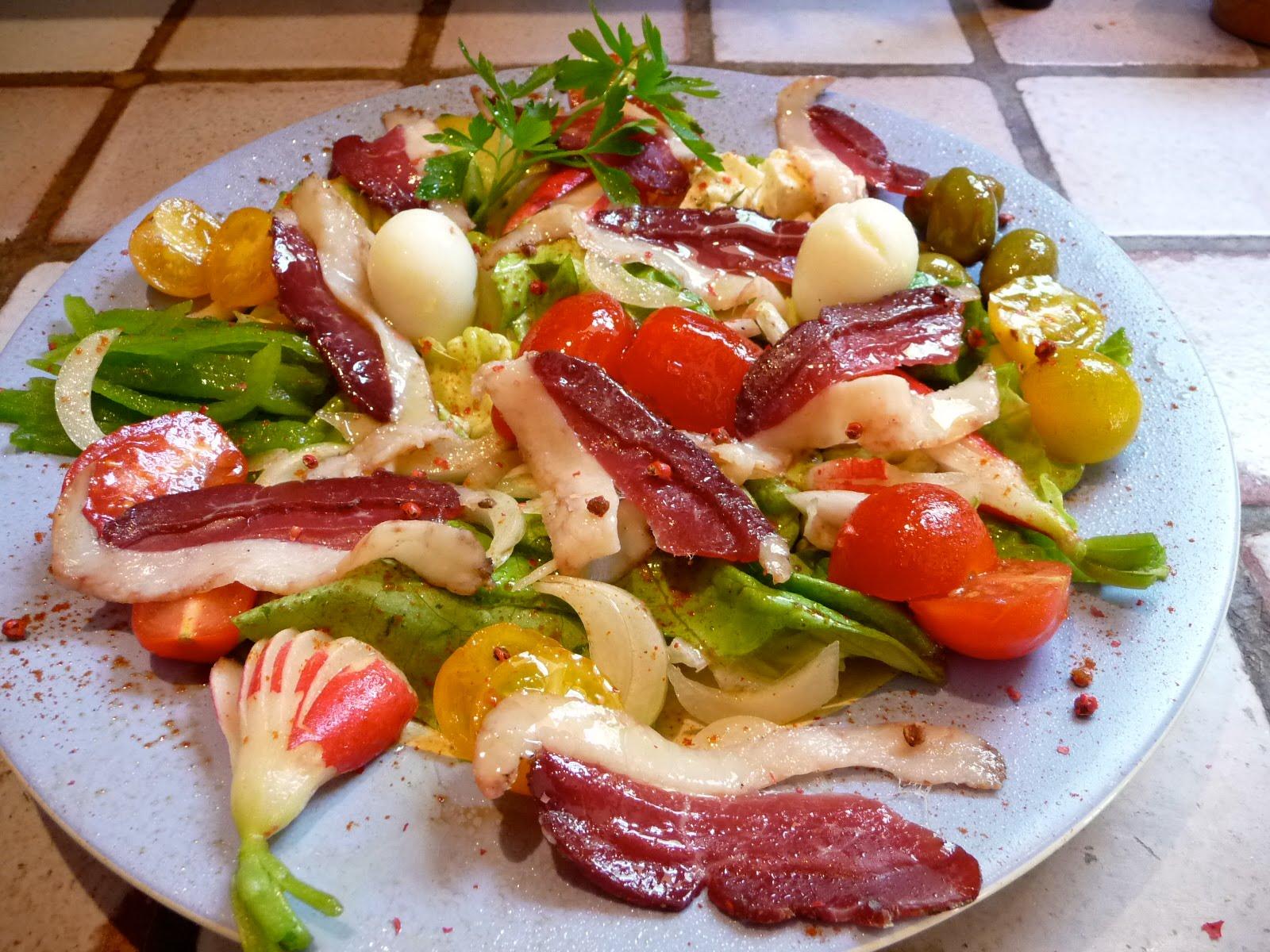 le roman culinaire v salade de magrets de canard multicolore. Black Bedroom Furniture Sets. Home Design Ideas