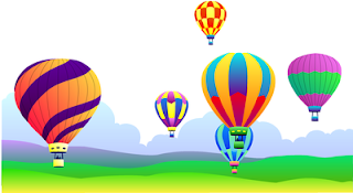 field of hot air balloons