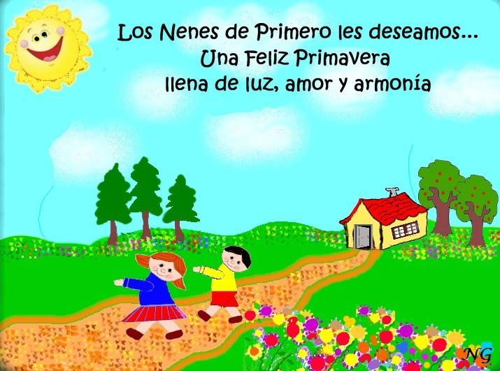 LOS NENES DE PRIMERO: BIENVENIDA PRIMAVERA