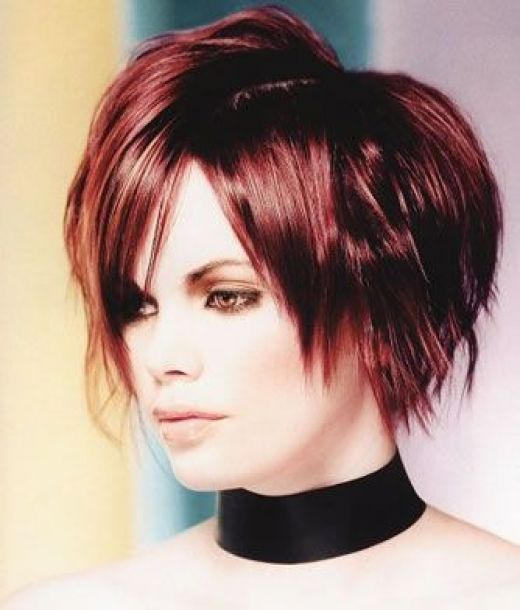 Red emo short hairstyles and Short hair dye picture