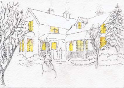 Whidbey Island Sketchers: Christmas Cards from our Secret Buddies