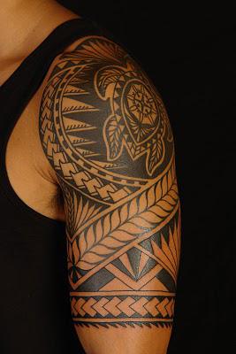Rotuman Shoulder Tattoo