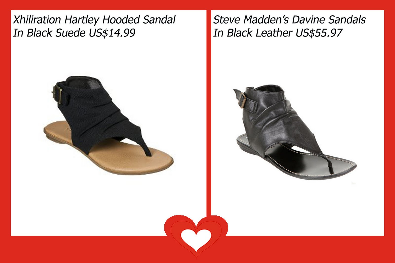 ... buckled sandal from Steve Madden looks amazing with the coolest  dresses, skirts and jumpers. I got her an amazing look-alike hooded sandals  from Target ...
