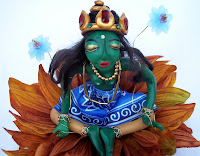 Green Tara -art doll
