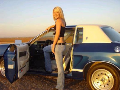 Topless babe and a mustang | Babes On Cars & Bikes | Pinterest ...