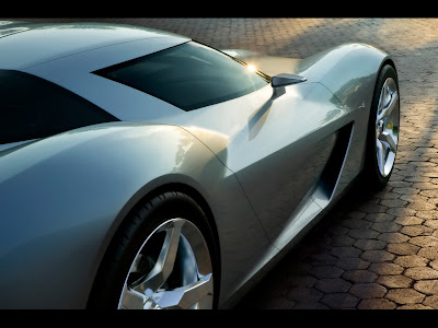 Corvette Stingray Concept Sideswipe on Xhelhe Blog  Corvette Stingray Concept Background