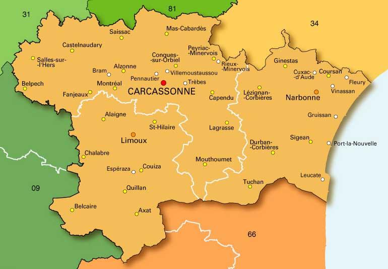 Aude Carcassonne Blog Ville Villes De France Carte