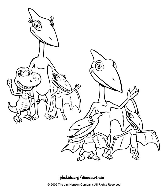 buddy dinosaur train coloring pages - photo#21