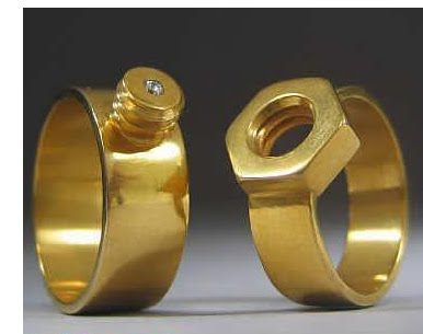 bad ass wedding rings - Interlocking Wedding Rings