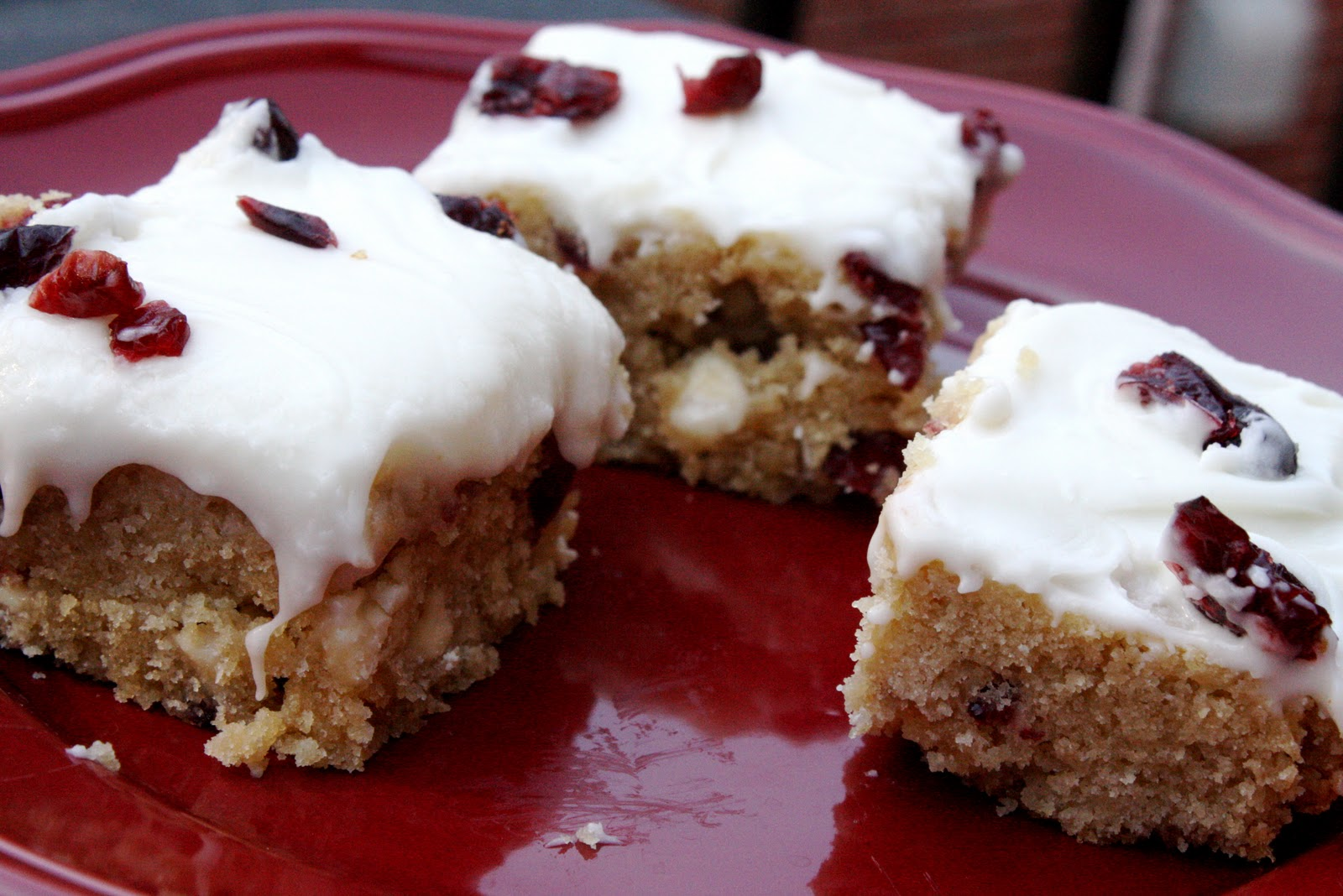 cranberry bliss bars supposedly a staple in starbucks bakery cases ...
