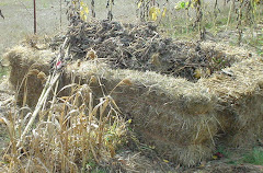 Straw-bale compost bin