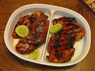 Grill chicken uncovered, over medium heat until chicken is cooked and ...