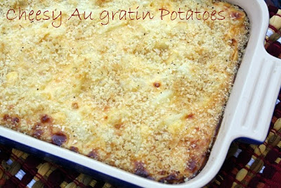 My Cheesy Au Gratin Potatoes made with Velveeta & Breakfast for Dad!