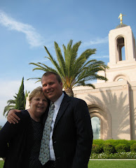 At the Newport Beach Temple with grandson, Colin