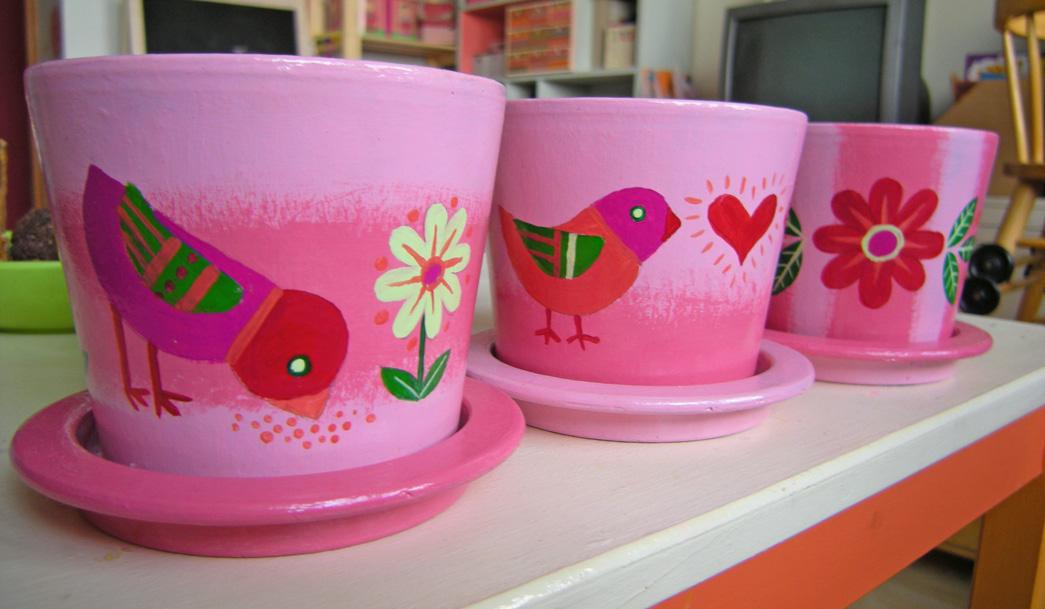 Роспись цветочных горшков своими рука - Арбалет. Ру - Купить Арбалет и лук для Охоты в Интернет