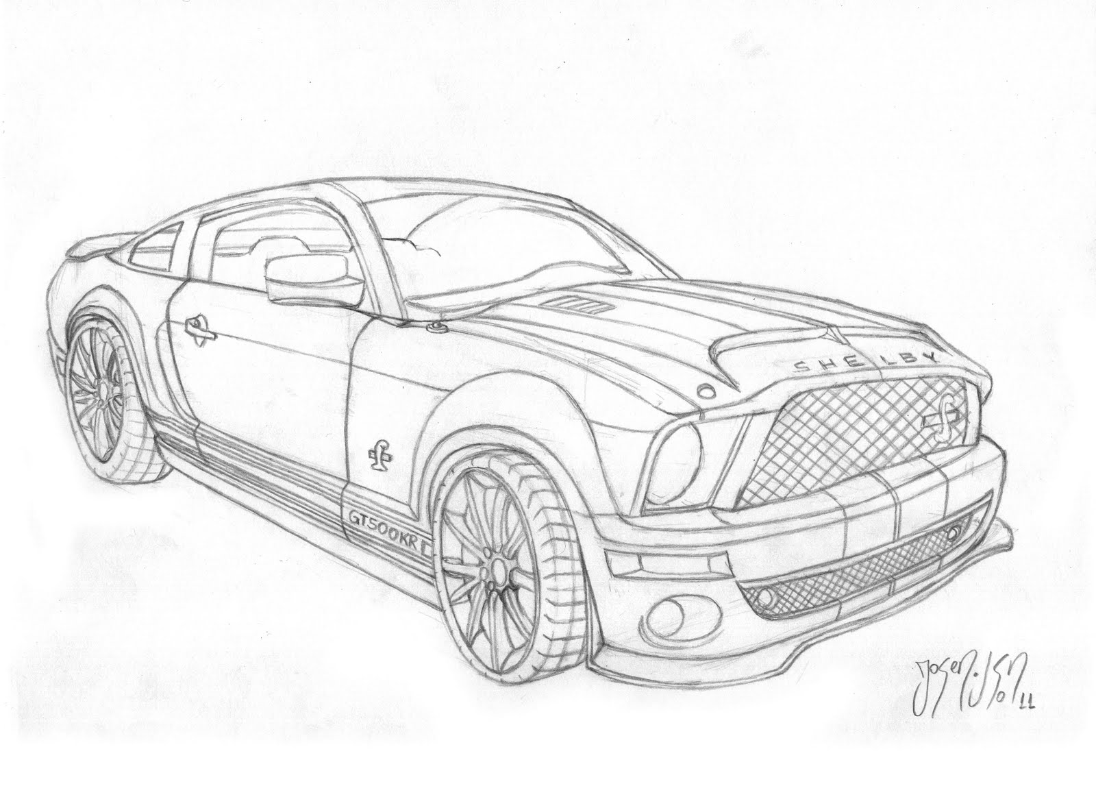 how to draw a ford mustang gt500. Black Bedroom Furniture Sets. Home Design Ideas