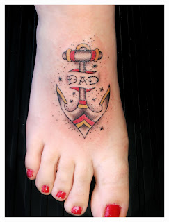 This girl foot is beautiful -- a ittle anchor tattoo on foot, i like it this tattoo. Lovely.