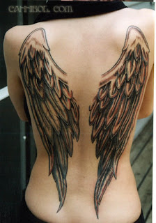 Tatto Angel Wing In LowerBack