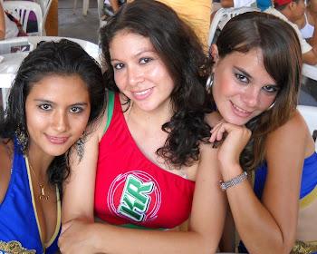 Gracce, Jillie y Tanny, las anfitrionas 2010 de Pucallpa