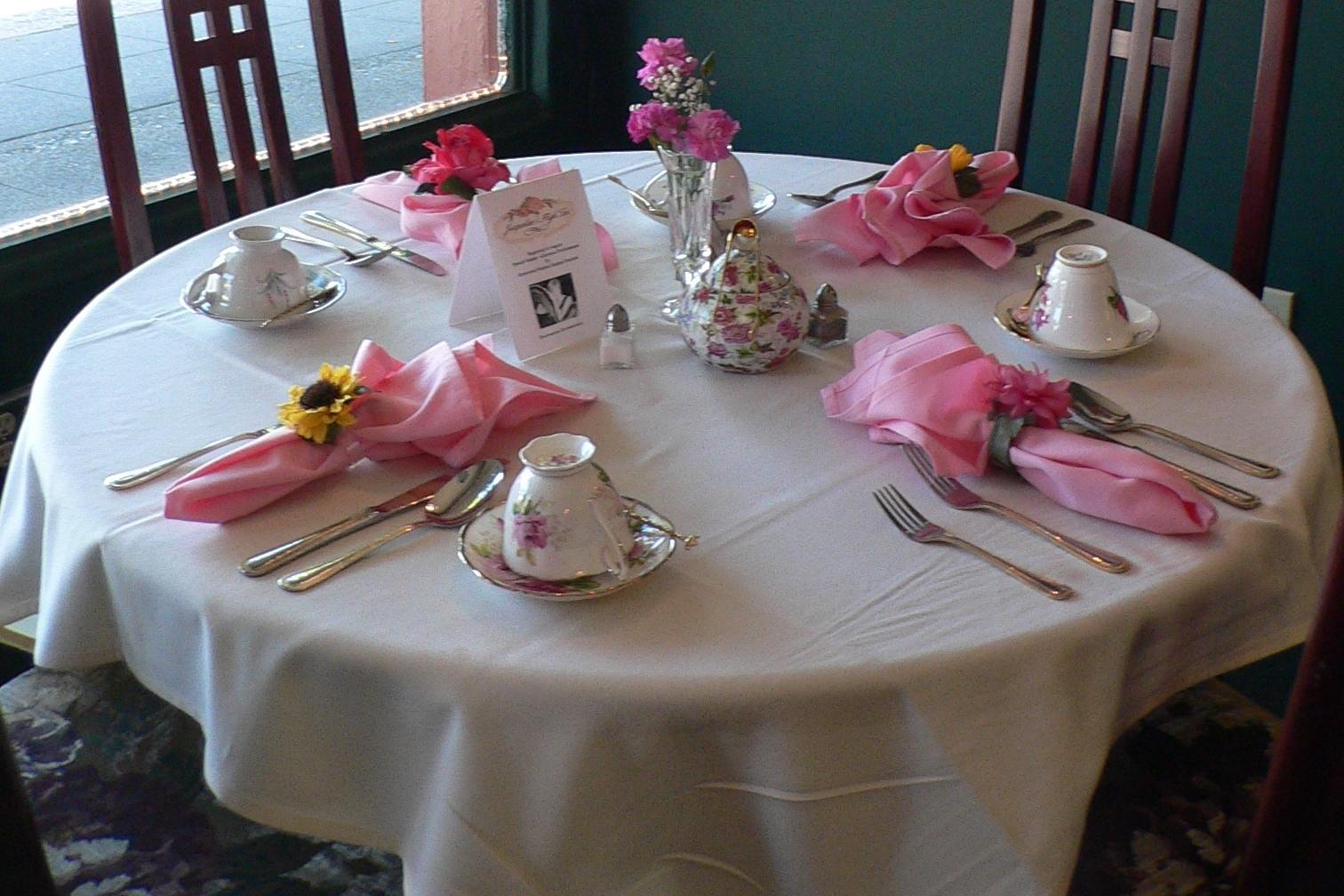 tea table settings tables - photo #32