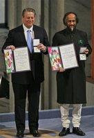 Al Gore and IPCC chief, Rajendra Pachauri