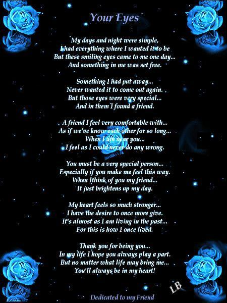 poems for best friends. i love you est friend poems