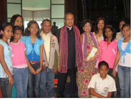 Timor Leste Children, Tun Dr Mahathir & Tun  Dr Siti  Haznah & Datin Paduka Marina Mahathir