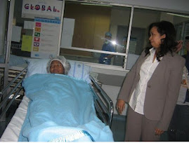 Datin Paduka  Marina Mahathir making sure  that Melina is ready for the operation