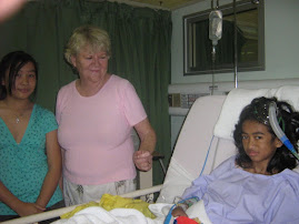 Marciela after the operation With Barbara Owens ( adopted grand Mother and Sister)  Kimberley