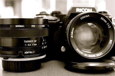 cosina 55mm f/1.2, tamron sp 17mm f/3.5 adaptall-2 51b