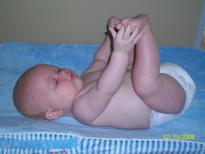Jay discovering his feet