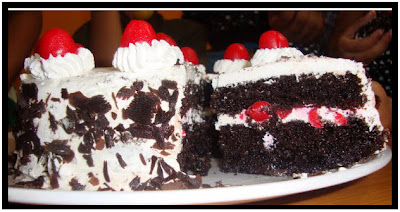 black forest cupcakes easy black forest cake black forest yule stump ...