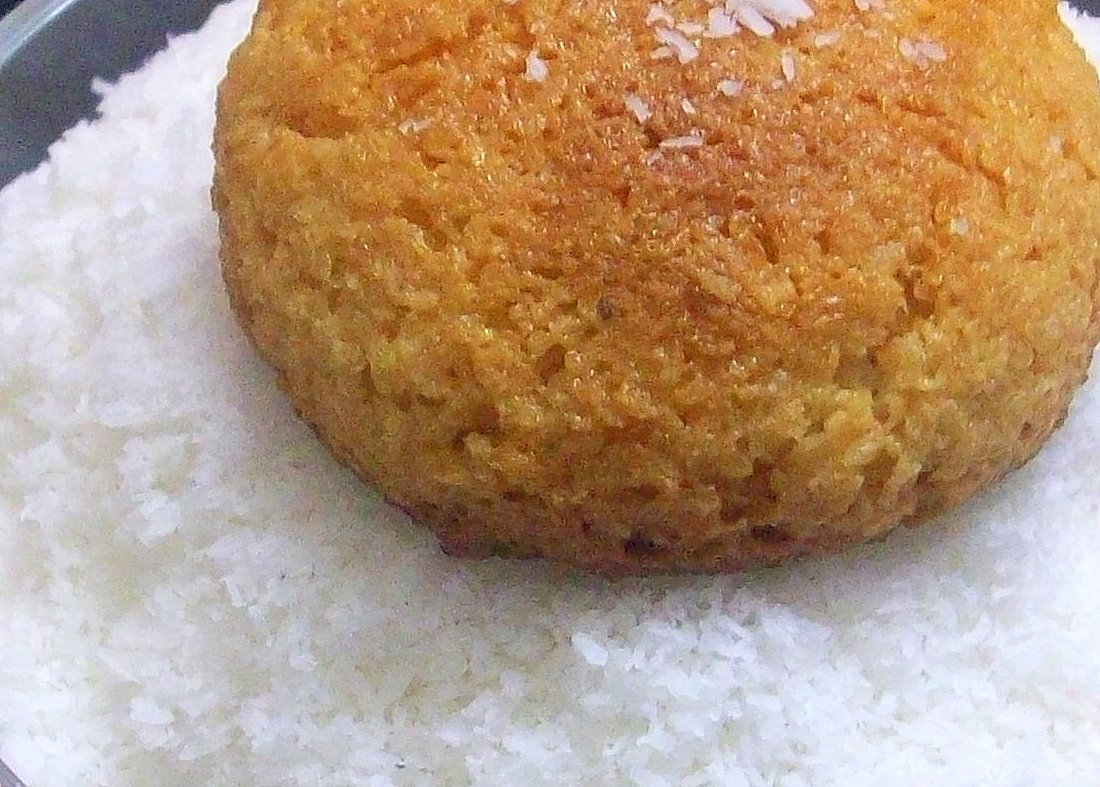 Eggless Coconut Cake With Condensed Milk