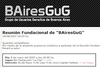 Imagen de 'De Rocha a Buenos Aires: Fundación de BAiresGuG'