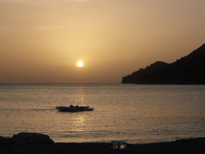 Por do sol em Taganga...