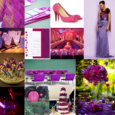 Tried and True Wedding and Event Planning Purple and Fuchsia Inspiration
