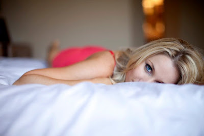 Hawlie Ohe budoir on bed by Mikel Anne photography phoenix